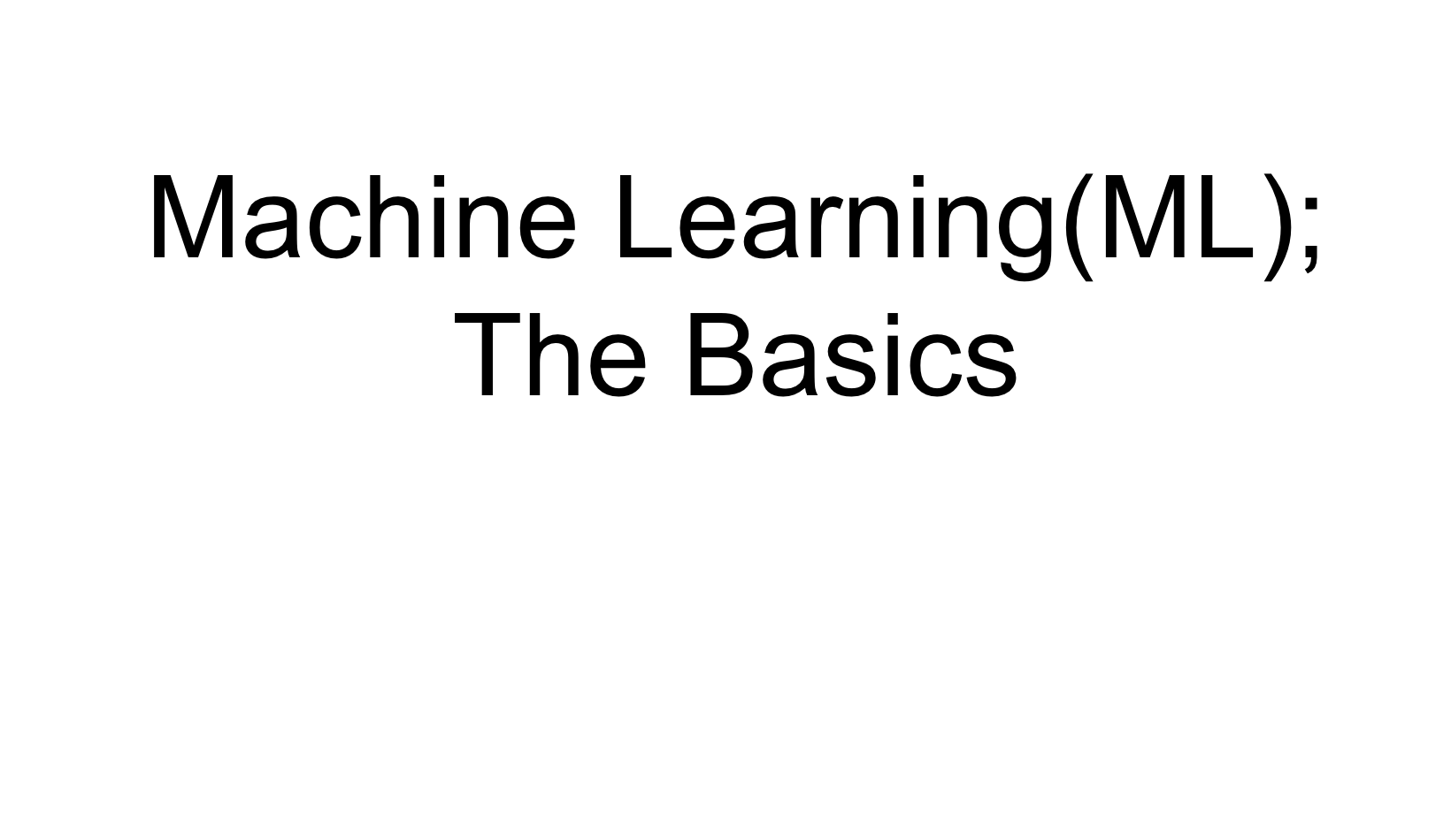 Machine Learning Slides and Video